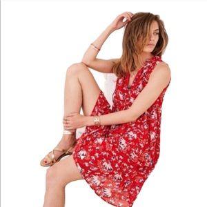Sézane Arielle dress floral red